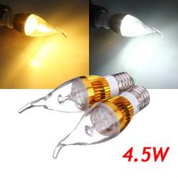 E27 4.5W 500-550lm Vit / Varmvit LED Candle Lampa Golden 85-265V