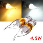 E27 4.5W 800-850lm Hvid / Varm Hvid 3LED Candle Lys Pære AC 85-265V LED-pærer