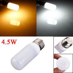 E27 4.5W Vit / Varmvit 5730 SMD LED Ivory Ljus Corn Lampa 110V