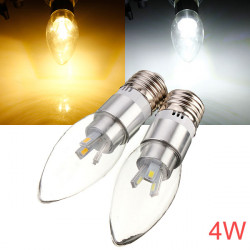 E27 4W AC 110-240V 6 SMD 5630 White/Warm White LED Candle Light Bulb