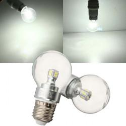 E27 4W Pure Vit 12 SMD 5050 LED Globe Glödlampa 220V