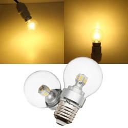 E27 4W wärmen Weiß 12 SMD 2835 LED Kugel Glühlampe 220V