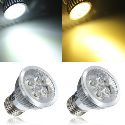 E27 4W White/Warm White 4 LED Spot light Bulb LED Lamp Light AC85-265V