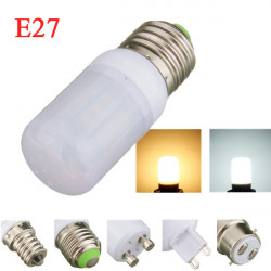 E27 4W White/Warm White 5730SMD LED Corn Bulb Light Ivory Cover 220V