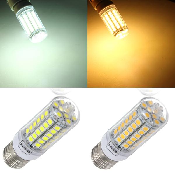 E27 5.5W 69SMD 5050 LED Sparepære LED Corn Pærer AC 220-240V LED-pærer