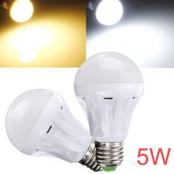 E27 5W 18 SMD 2835 AC 220-240V White/Warm White LED Globe Light Bulb