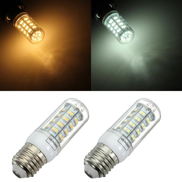 E27 5W 3528 SMD 66 LED Corn Lampe Pære Sparepære 220V LED-pærer