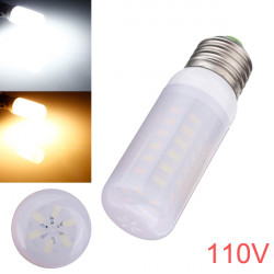 E27 5W 48 SMD 5730 AC 110V LED Corn Light Bulbs With Frosted Cover