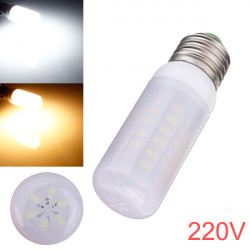 E27 5W 48 SMD 5730 AC 220V LED Lampa med Frosted Cover