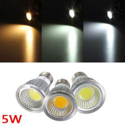 E27 5W 500-550LM Dæmpbar COB LED Spotlampe Lys Pærer AC 220V