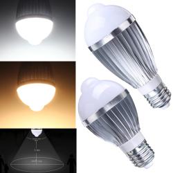 E27 5W Auto PIR Infrared Motion Sensor Detection LED Bulb Lamp 85-265V