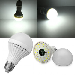 E27 5W Pure White Microwave Radar Body Sensor LED Light Bulb 220V