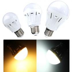 E27 5W White/Warm White Sound+Light Sensor Control LED Globe Bulb 220V