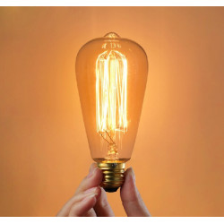 E27 60W Incandescent Bulb 220V ST64 Retro Edison Light Bulb