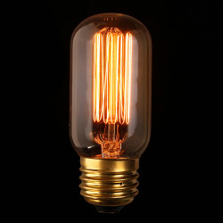 E27 60W Vintage Antique Edison Glødepære Clear Glass 220V / 110V