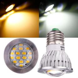 E27 6W AC 220V 16 SMD 5630 White/Warm White LED Spot Light Bulbs