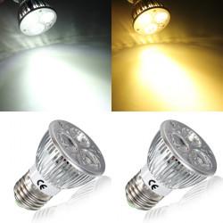 E27 6W Hvid / Varm Hvid 3LED SpotLys Pære LED Lampe Lys AC85-265V