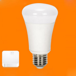 E27 6W White Wifi Wireless Remote Control Dimming LED Smart Bulb+Bridge AC 220V