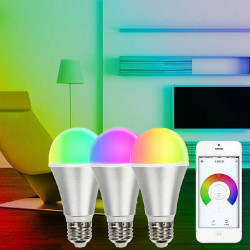 E27 6W Wifi Wireless Remote Control Dimming RGB LED Smart Bulb + Bridge AC 220V