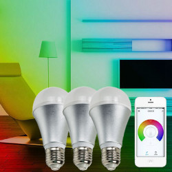 E27 6W Wifi Wireless Remote Control Dimming White LED Smart Bulb + Bridge AC 220V