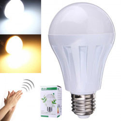 E27 7W 5730SMD LED Induction Lamp Voice and Light Control 110-220V