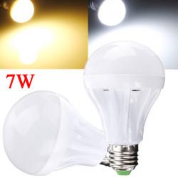 E27 7W Hvid / Varm Hvid 2835 SMD 27LED Lys Pære Lampe 110-130V