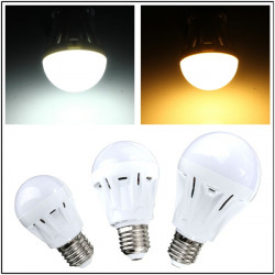 E27 7W Weiß / Warm White Sound + Light Sensor Control LED Kugel Birne 220V