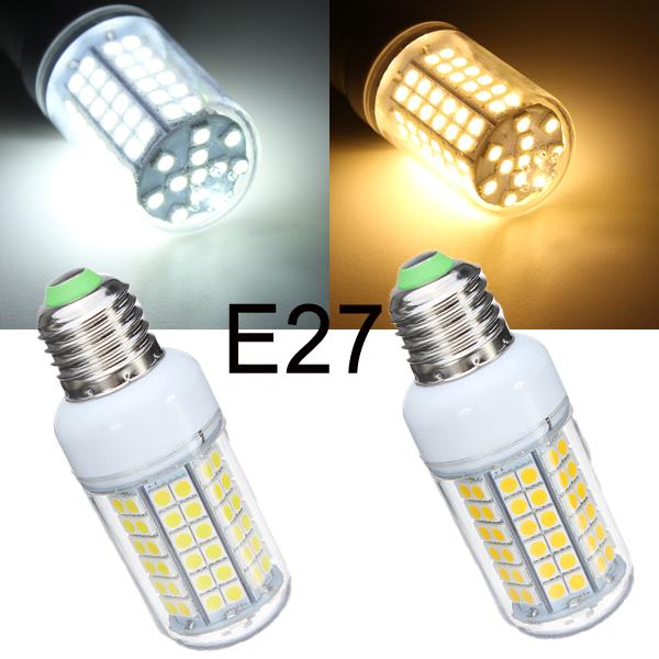 E27 8W 96 SMD5050 Warm White/White LED Corn Light Bulb 220-240V LED Light Bulbs