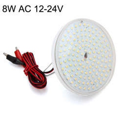 E27 8W SMD 2835 Warm White/White Energy Saving LED Light AC 12V-24V