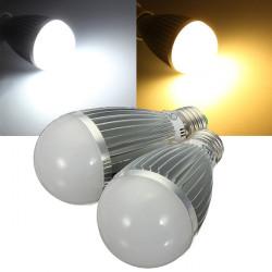 E27 8W Varmvit / Vit Energisparande LED Globe Glödlampa 110-240V