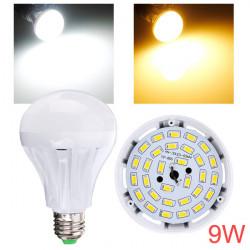 E27 9W 30 SMD 2835 AC 220 240V Weiß / Warm White LED Kugel Glühlampe