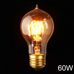 E27 A19 110V / 220V 60W 23 Anchors Edison Stil Glödlampa