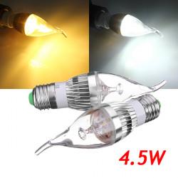 E27 Dimmbare 4.5W 500 550LM weiße / warme weiße LED Kerze Birne 220V