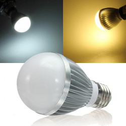 E27 Dæmpbar 5W Varm Hvid / Hvid AC 220V LED Globe Lys Pærer