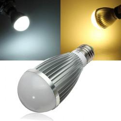 E27 Dæmpbar 7W Varm Hvid / Hvid AC 220V LED Globe Lys Pærer
