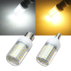 E27 / E14 8W Weiß / Warm White 126 SMD 2835 LED Mais Glühlampe AC 220 240V
