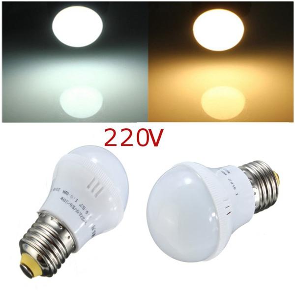 E27 Energisparande LED-Lampa 3W SMD 5630 Vit / Varmvit AC 220V LED-lampor