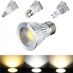 E27/GU10/E14/B22 6W COB LED Dimmable Downlight Bulbs Spotlight AC 85V-265V