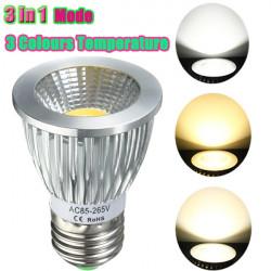 E27 / GU10 / E14 / B22 8W COB LED Dæmpbare Downlight Løg SpotLys AC 85V-265V
