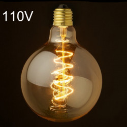 E27 Glödlampa 40W 110V G80 Retro Edison Glödlampa
