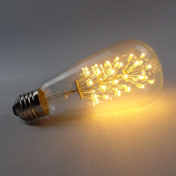 E27 LED-lampa 3W Varmvit 110V / 220V ST64 Edison Stil Glödlampa