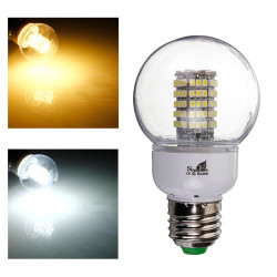 E27 LED Lampe 5W 102 SMD 3528 110V warmes weißes / Weiß mit Kugel Abdeckung