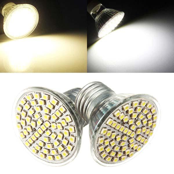 E27 LED-lampa 5W AC 110V 60 SMD 3528 Vit / Varmvit Spotlight LED-lampor