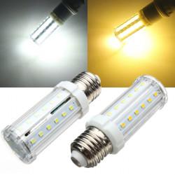 E27 LED-lampa 5W Vit / Varmvit 40 SMD 2835 Corn Lampa 110-240