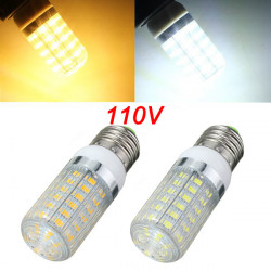 E27 LED Bulb 6W Warm White/White 56 SMD 5730 AC 110V Corn Light