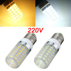 E27 LED Bulb 6W Warm White/White 56 SMD 5730 AC 220V Corn Light