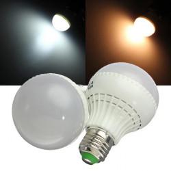 E27 LED-lampa 7W SMD 5730 AC 85-265V Varmvit / Vit Globe Ljus