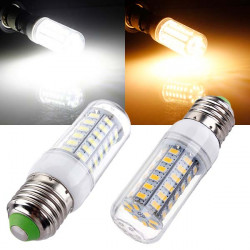 E27 LED Bulb Ultra Bright 6W 56 SMD 5730 AC 220V Corn Light
