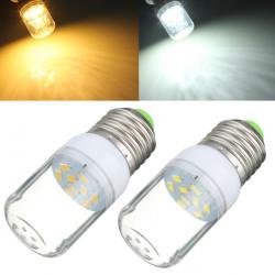 E27 Vit / Varmvit 3W SMD 5730 LED-ljus 300LM Spot Corn Lampa 220V