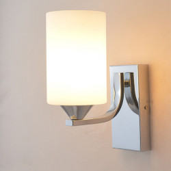 Fashion Simple Sconce Ground Glass Lampshade E27 Væglamper